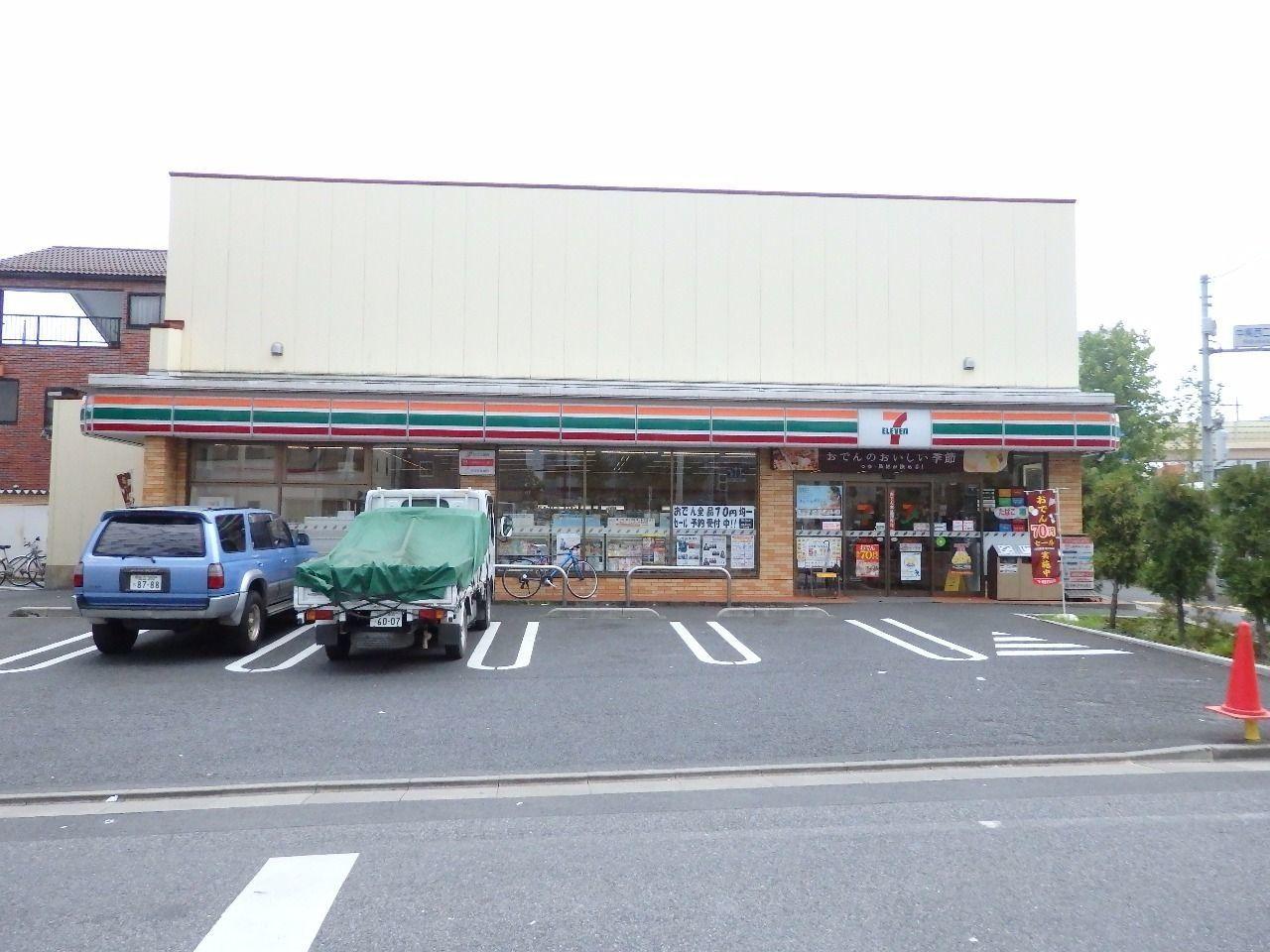 駐車場も完備で環七通りを利用される方には人気のコンビニです。