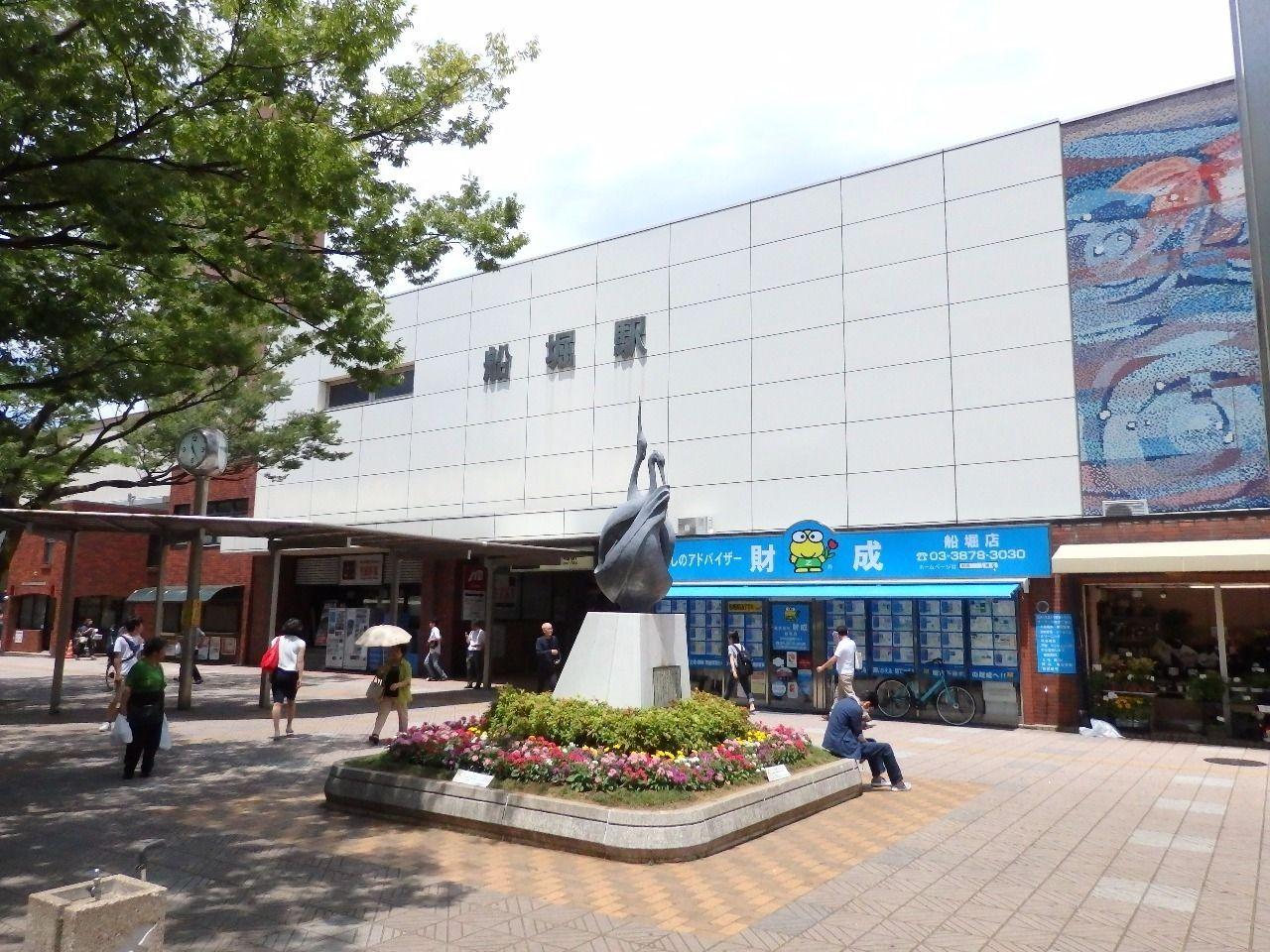 人気急上昇中のベットタウン船堀駅。都心までも30分以内で移動できます。