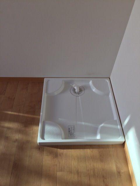 お部屋の中に防水パンがついており、洗濯機を置くのも安心できます。