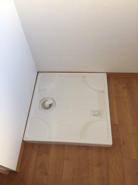 防水パンがあるとお部屋の中に洗濯機を置いても安心です。