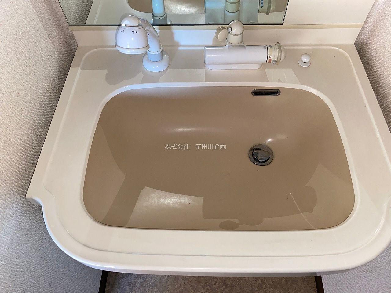 シャンプードレッサー付の洗面台