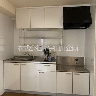 2口のガスコンロが設置できるキッチン